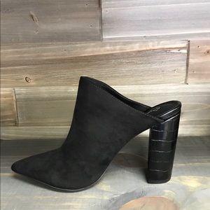 Shoes - New Black Suede Mule Sz 5.5-10